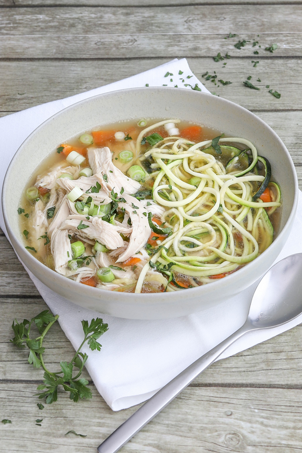 Hühnersuppe mit Zoodles